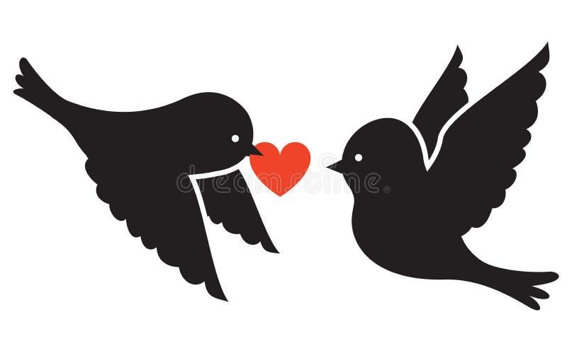 Download Dwa ptaka ilustracja wektor. Ilustracja złożonej z ilustracje - 28959652