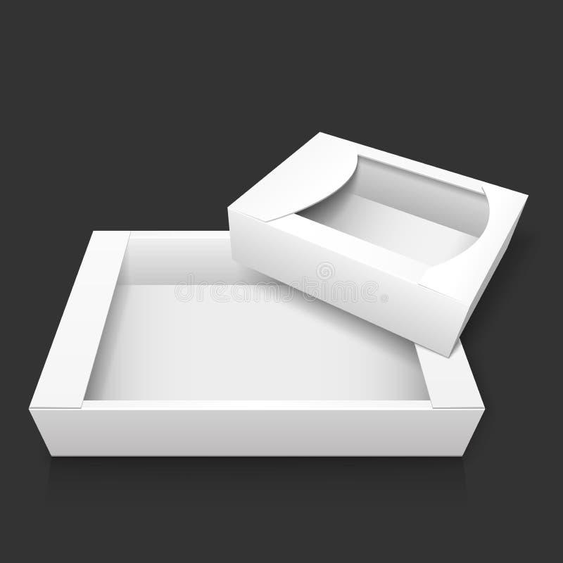 Dwa pusty biały karton również zwrócić corel ilustracji wektora ilustracja wektor
