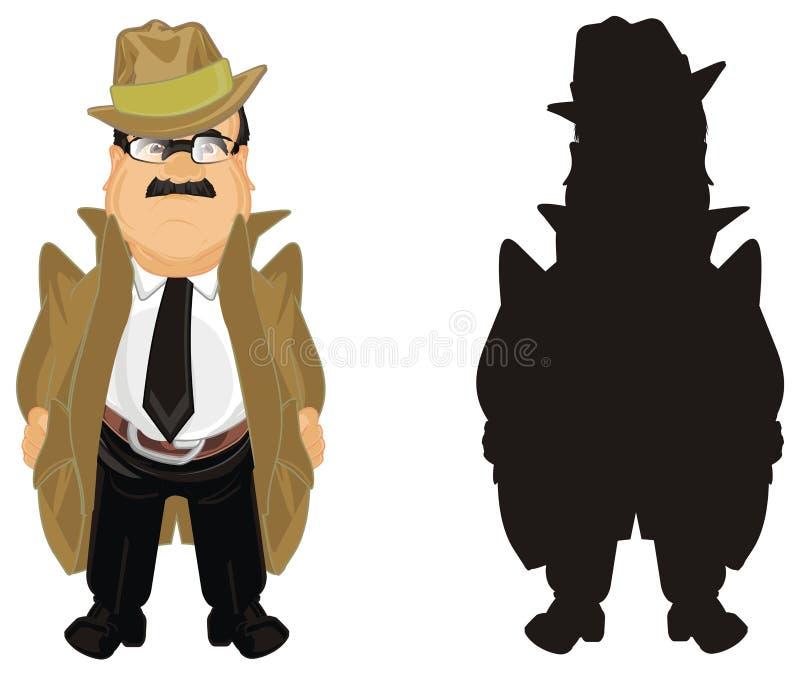 Dwa różnego detektywa royalty ilustracja