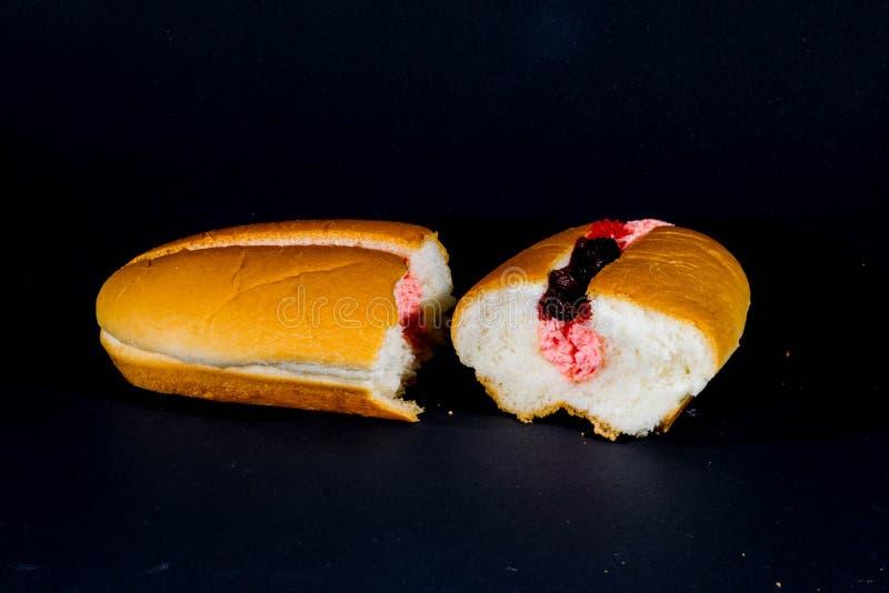 Dwa razy chlebowy dżem zdjęcia stock