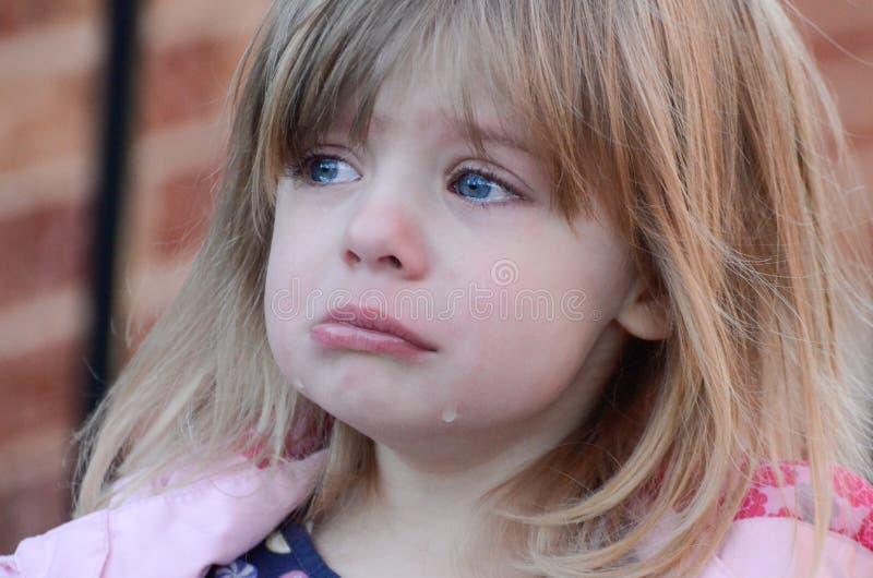 Nieszczęśliwy girl3 obraz stock