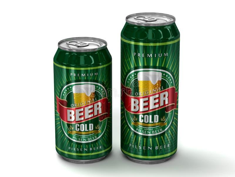 Dwa rodzajowej piwnej puszka ilustracji