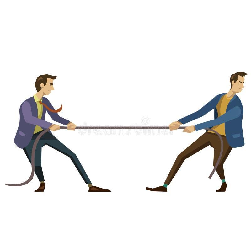 Dwa rywalizujący biznesmen ilustracja wektor