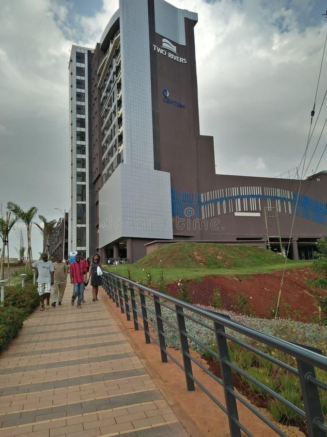Dwa rzek centrum handlowe w Kenja, Ruaka zdjęcia royalty free