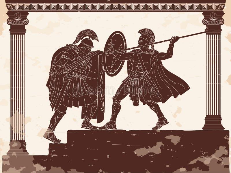 Dwa rzymianina legioner ilustracja wektor