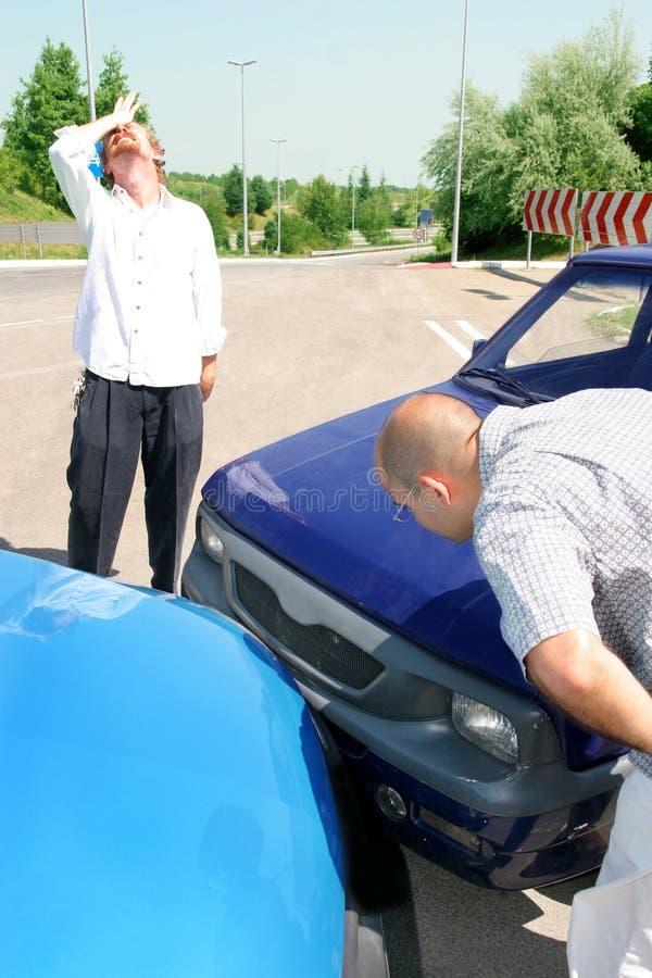 dwa samochody wypadków obrazy stock