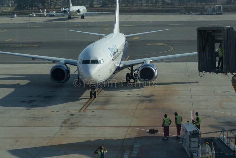 Dwa samolot europejskiej spółki iść podróż obsługują obraz royalty free