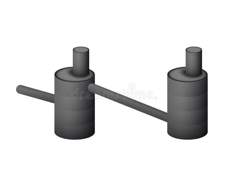 Dwa septycznego zbiornika wektoru podziemna ilustracja ilustracji