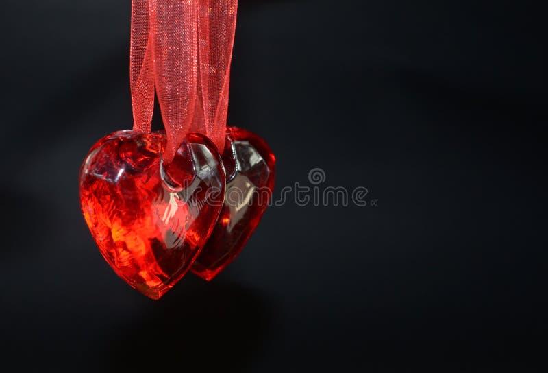 Dwa serca dla dwa zaludniają na valentines dniu ilustracja wektor