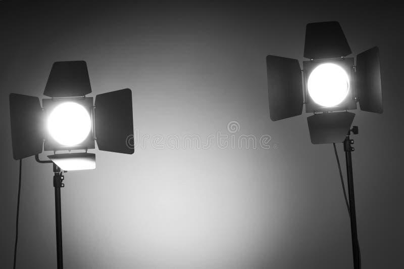 Dwa Stajni Drzwi światła W Studiu Zdjęcia Stock