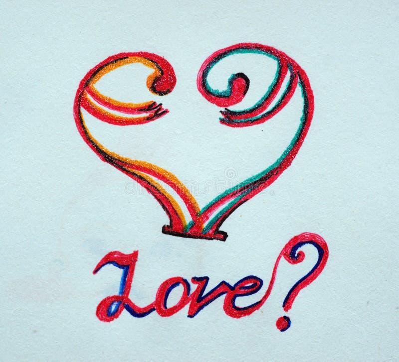 Dwa symbolicznej linii w postaci serca zdjęcie royalty free