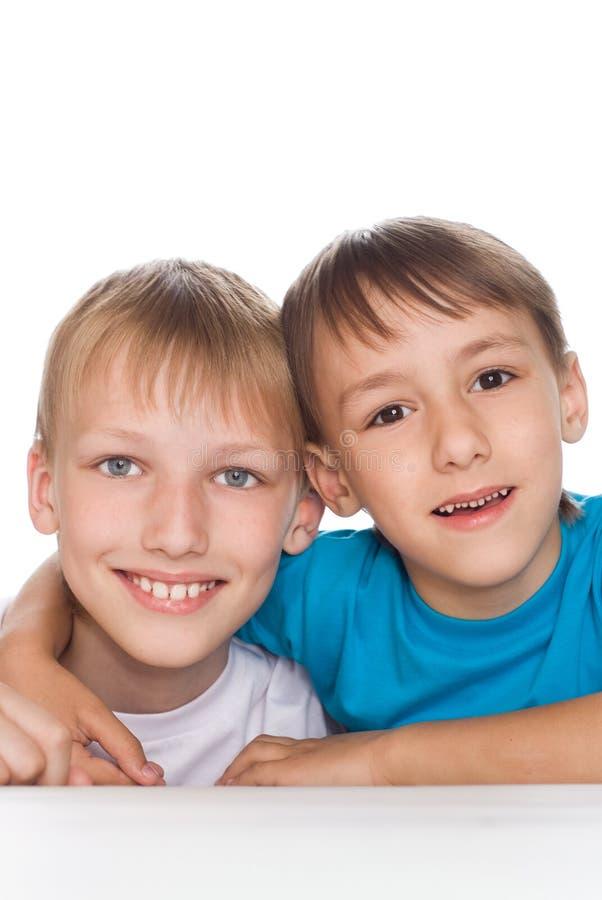 Dwa szczęśliwego brata zdjęcia royalty free