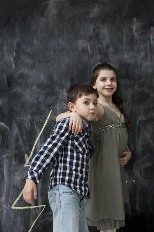 Dwa szczęśliwego dzieciaka zdjęcia stock