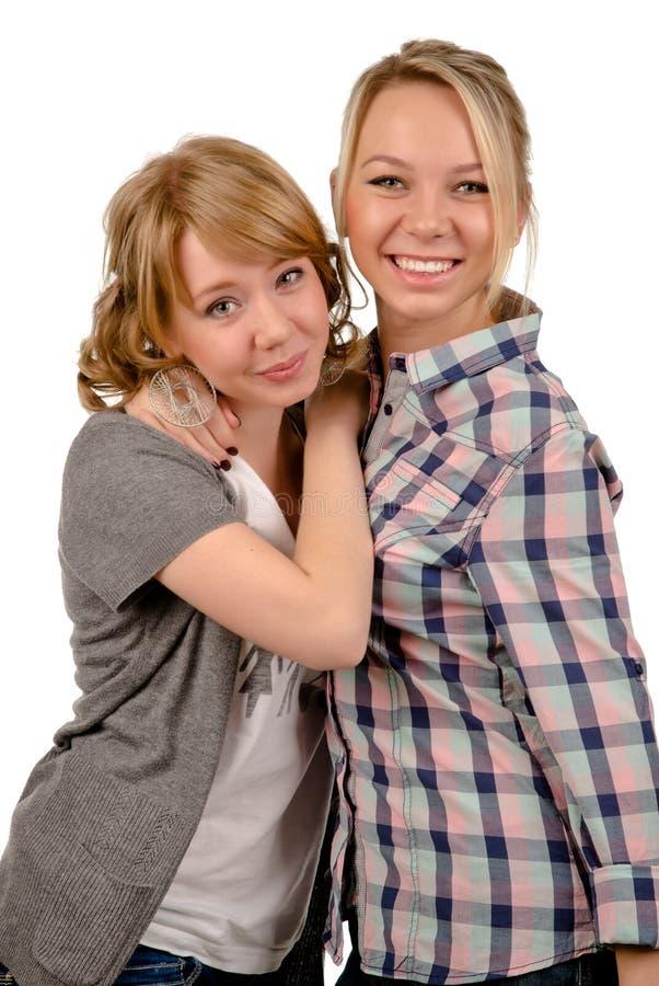 Dwa szczęśliwej młodej kobiety obraz stock
