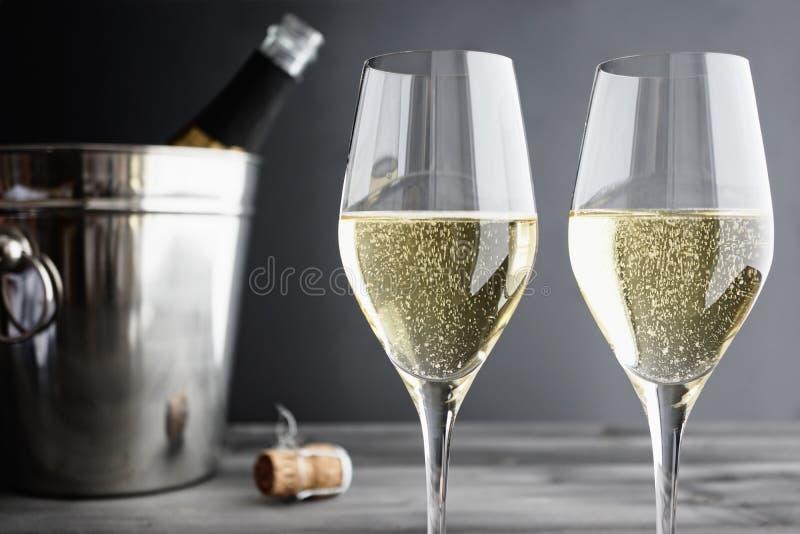 Dwa szkła szampan obraz royalty free