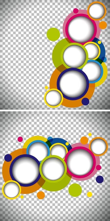 Dwa tło szablonu z round kształtami ilustracja wektor