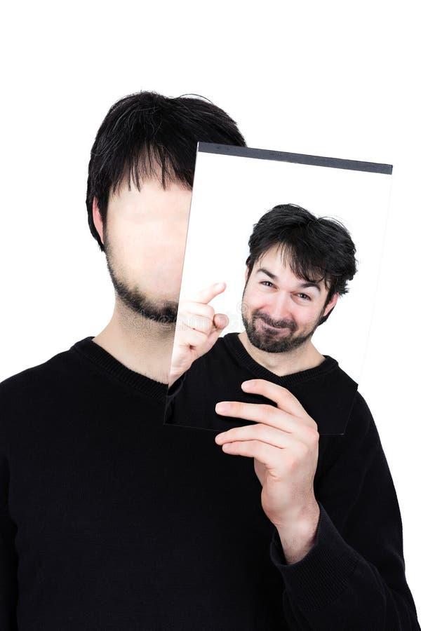 Dwa twarzy motywującej zdjęcia stock