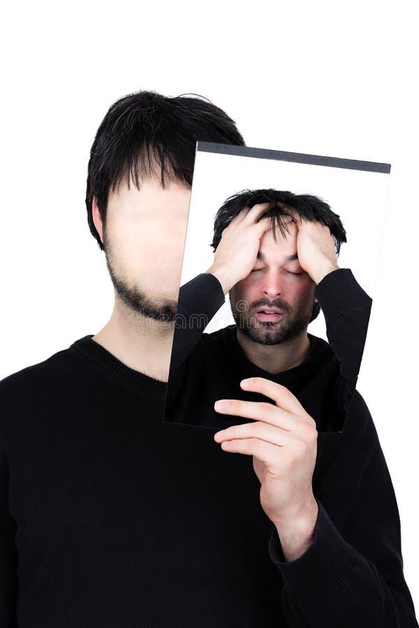 Dwa twarzy - rozpacz zdjęcia stock