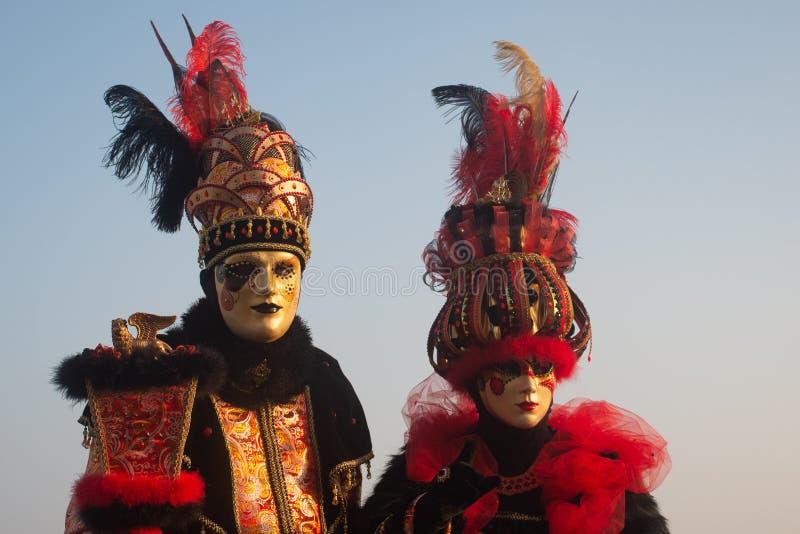 Dwa typowej maski w Wenecja, karnawał zdjęcia royalty free