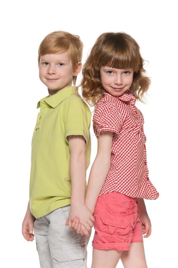Dwa uśmiechniętego dziecka fotografia stock