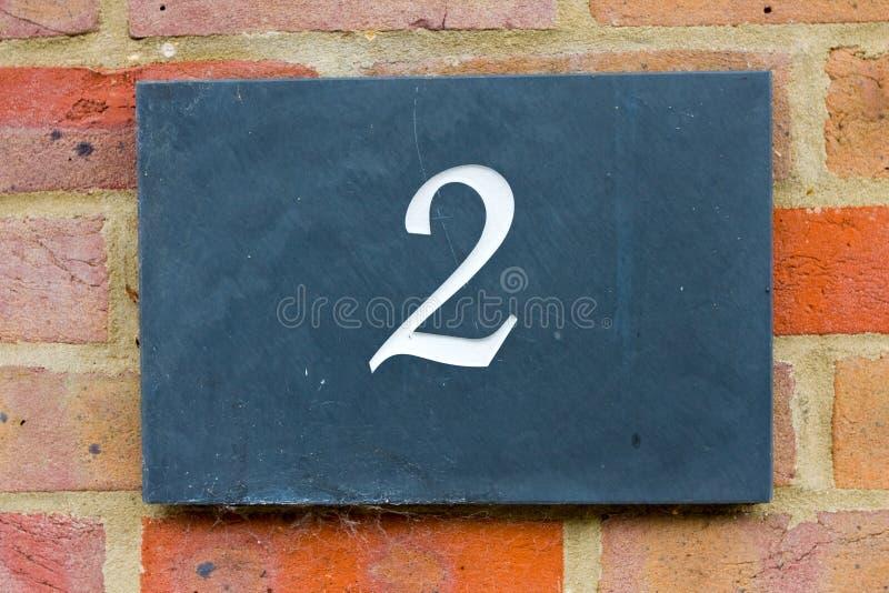 Dwa ulic liczba zdjęcia stock