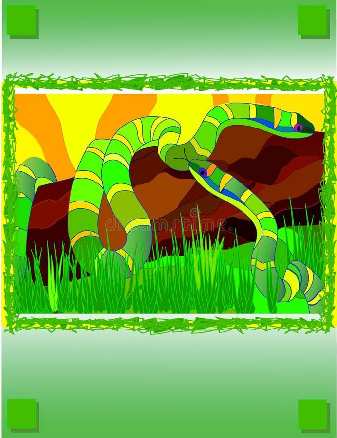 dwa węże, ilustracja wektor