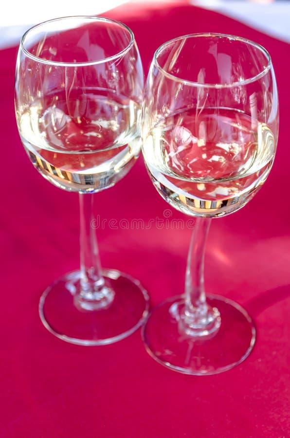 Dwa wina szkła fotografia stock