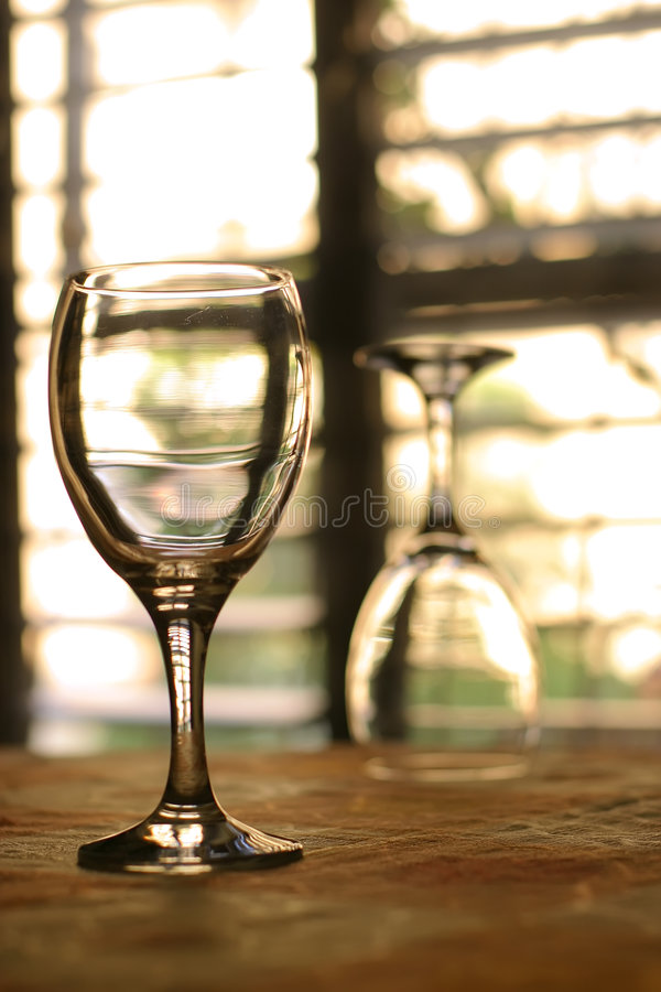 dwa wineglasses fotografia stock