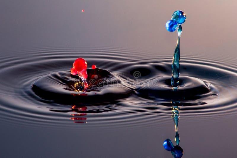 Dwa wodny splatter i pluśnięcie fotografia stock