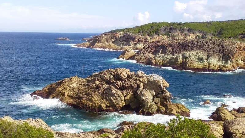 Dwa wyspy przy morzem obraz royalty free