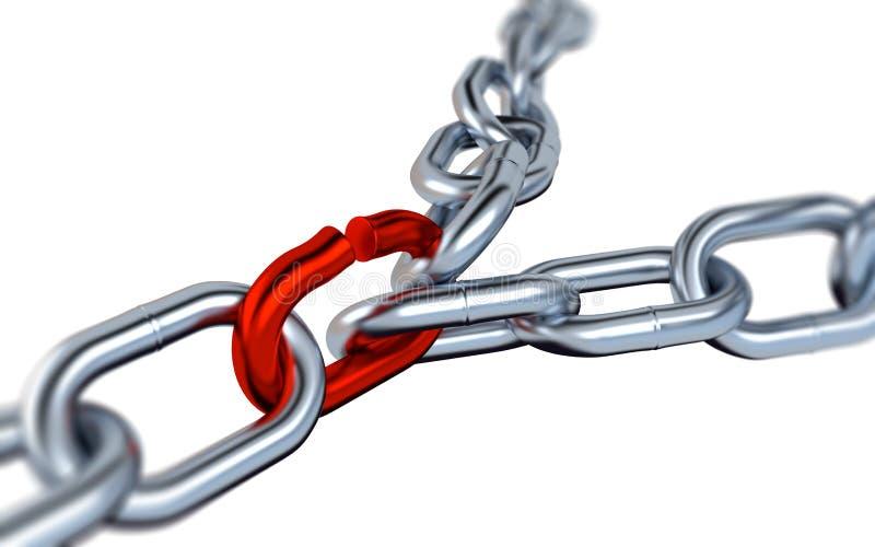 Dwa Zamazywali Kruszcowych łańcuchy z Jeden rewolucjonistki połączeniem ilustracja wektor