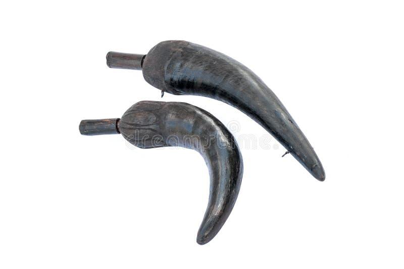 Dwa zbiornika zrobili †‹â€ ‹prochów rogi zdjęcie royalty free