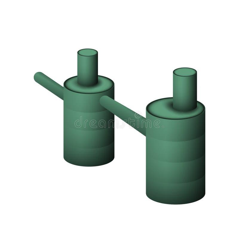 Dwa zielony septyczny zbiornik royalty ilustracja