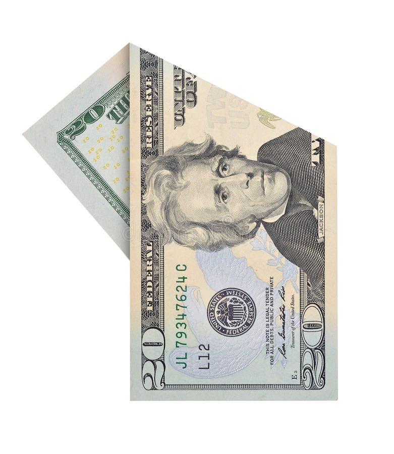 Dwadzieścia dolarów rachunków zdjęcie stock