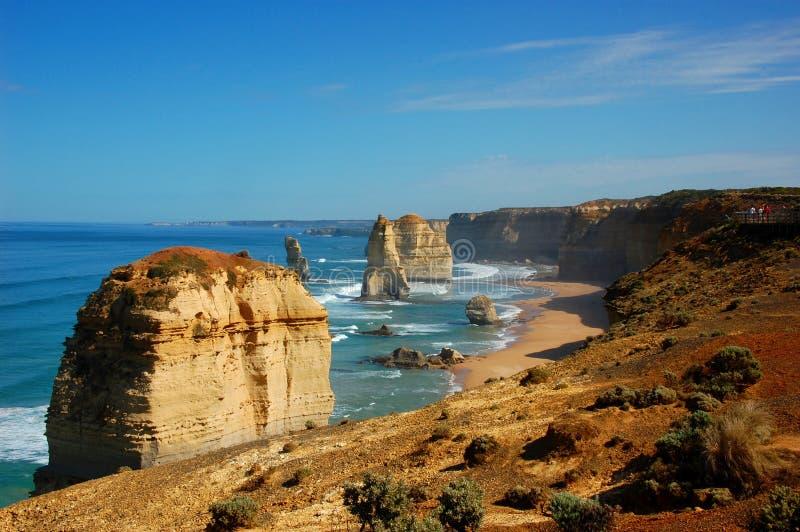 Dwanaście apostołów na Wielkiej ocean drodze, Australia. zdjęcia royalty free