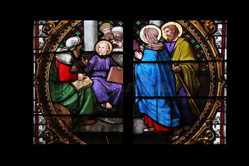 Dwanaście lat Jezus w świątyni fotografia stock