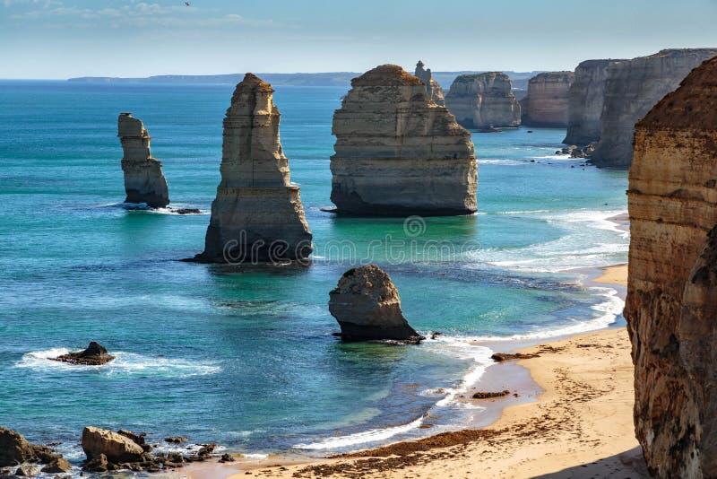 Dwana?cie aposto??w, Wielka ocean droga, Wiktoria, Australia obrazy royalty free