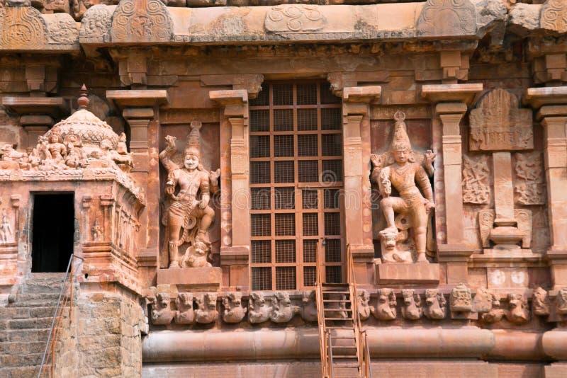 Dwarapalas, mur du sud, temple de Brihadisvara, Tanjore, Tamil Nadu photo stock
