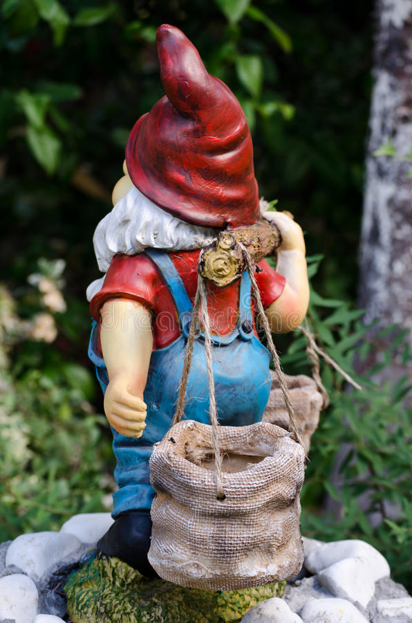 Dwarf in the garden royalty free stock photos