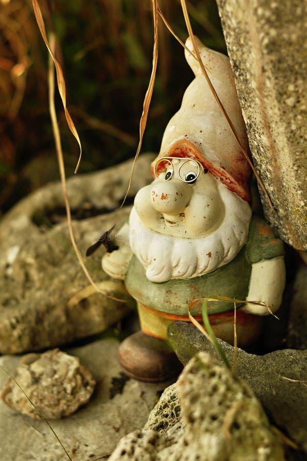 Dwarf glasses midget gnome troll stock photography