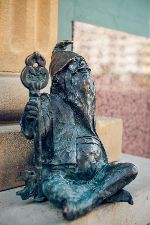 Dwarf Klucznik Wroclaw. Symbol of Wroclaw, brass dwarf. There are more than 230 in the city and still they come royalty free stock photography