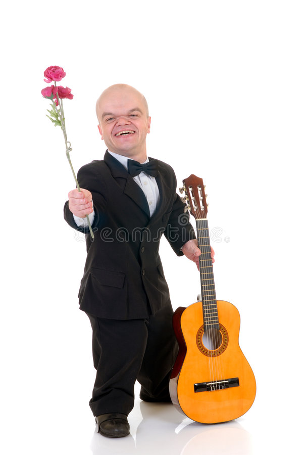 Free Dwarf, Little Man With Rose Stock Photos - 4028843