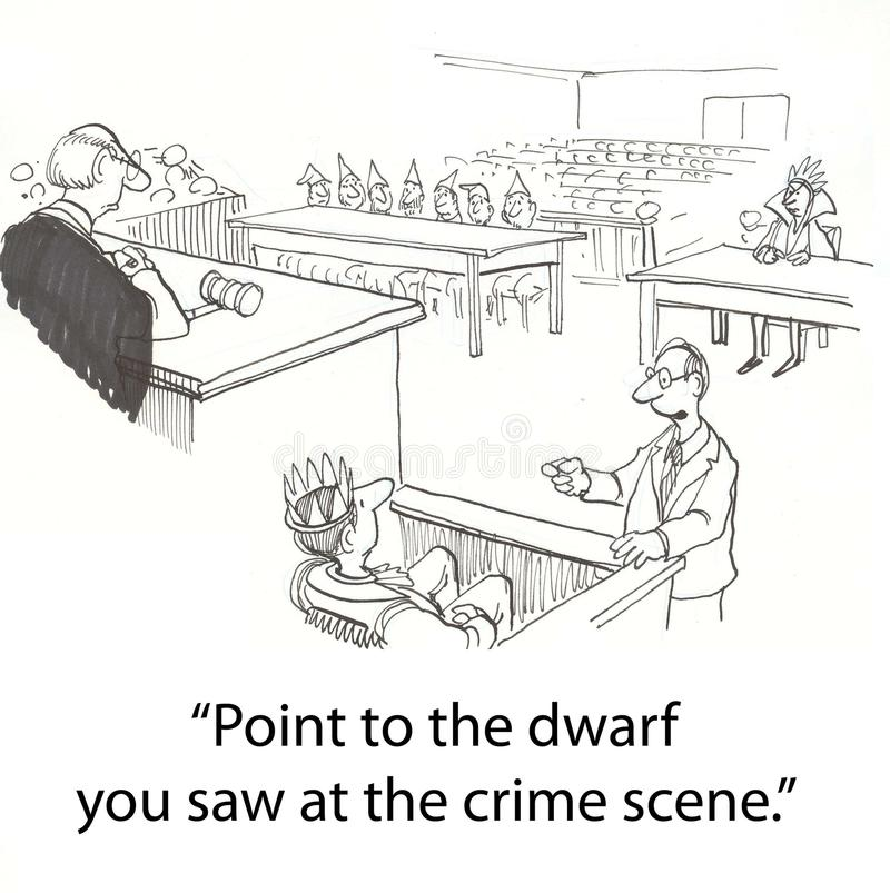 Dwarf trial stock illustration