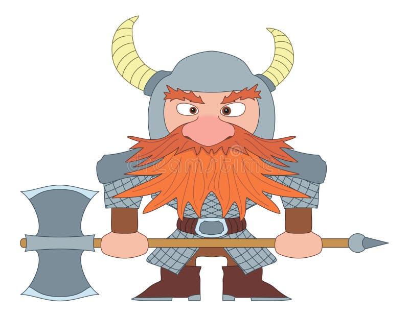 Download Dwarf warrior stock vector. Image of dwarf, expression - 25604688
