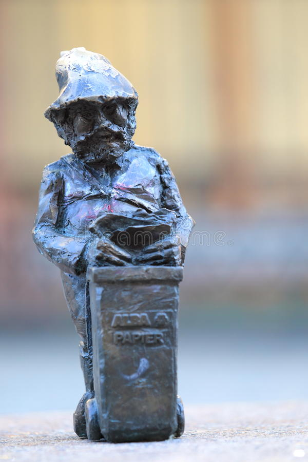 Dwarf in Wroclaw royalty free stock photo