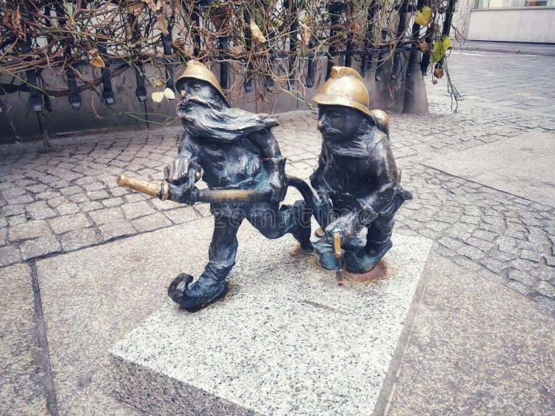 Dwarfs in Wroclaw royalty free stock photo