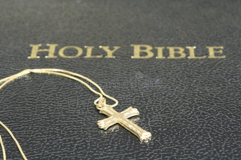 Dwars Halsband en Bijbel stock afbeelding