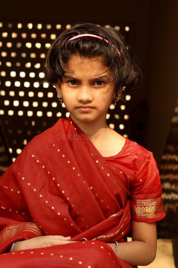 Dwars jong Indisch meisje royalty-vrije stock foto's