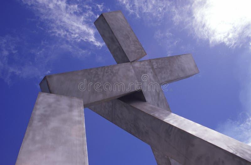 Dwars monument stock afbeeldingen