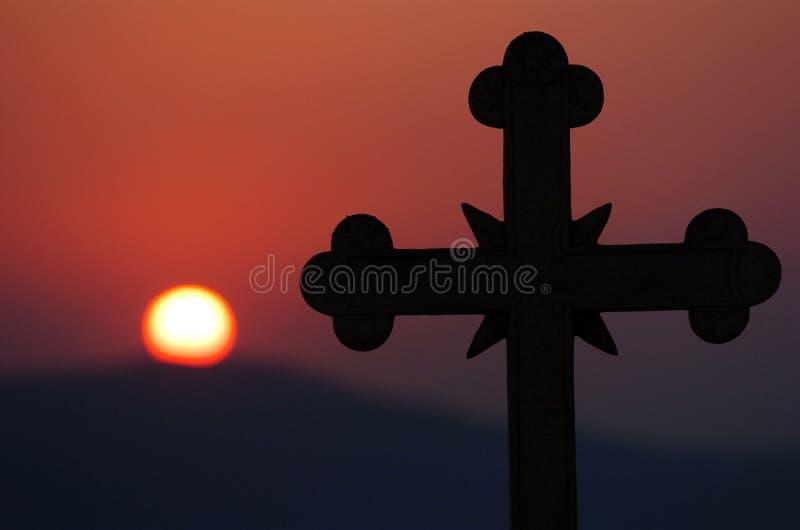 Dwars zonsondergang stock afbeeldingen